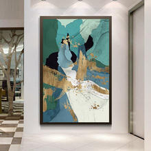Framed Modern abstract series Painting Canvas Wall Art Picture Home Decoration Living Room Print ART263