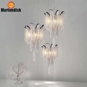 Image 5 - Modern Aluminum Pendant Lamp Luxury Aluminum Chains E14 Base Indoor Hanging Light For Bar Dining Room Living Room Bedroom(DQ 50)