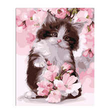 Wall Pictures For Living Room,Drawing By Number,Painting Numbers Cute Cat