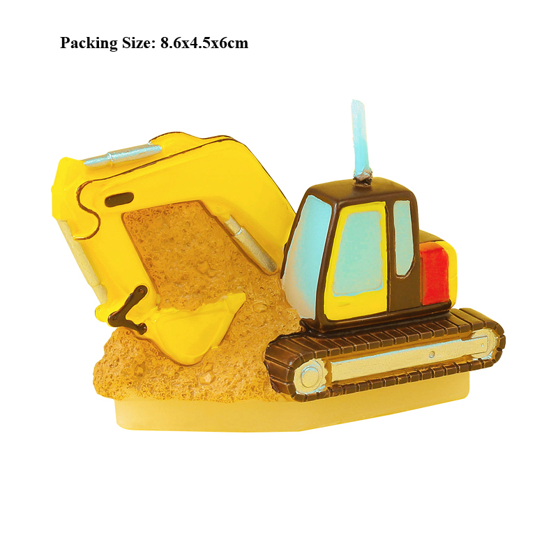 digger candle cake decorating supplies cars birthday children kids party decoration baby first boy