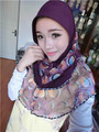 TJ5 2014 New Malay style Fashion beautiful muslim patchwork  hijab headband