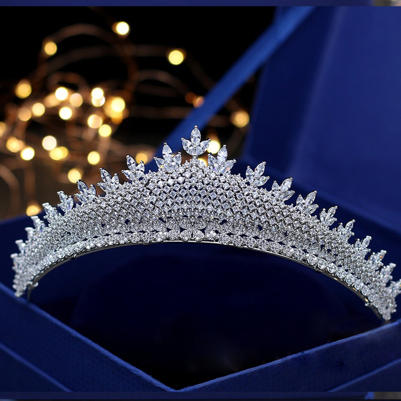 Jonnafe Luxurious Full Zircon Princess Crown Wedding Tiara Bridal Hair Accessories Women Evening Prom Hairband цена 2017