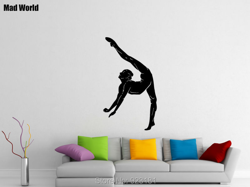 Online Get Cheap Removable Wall Decals Sports Woman Aliexpress - Sporting wall decals