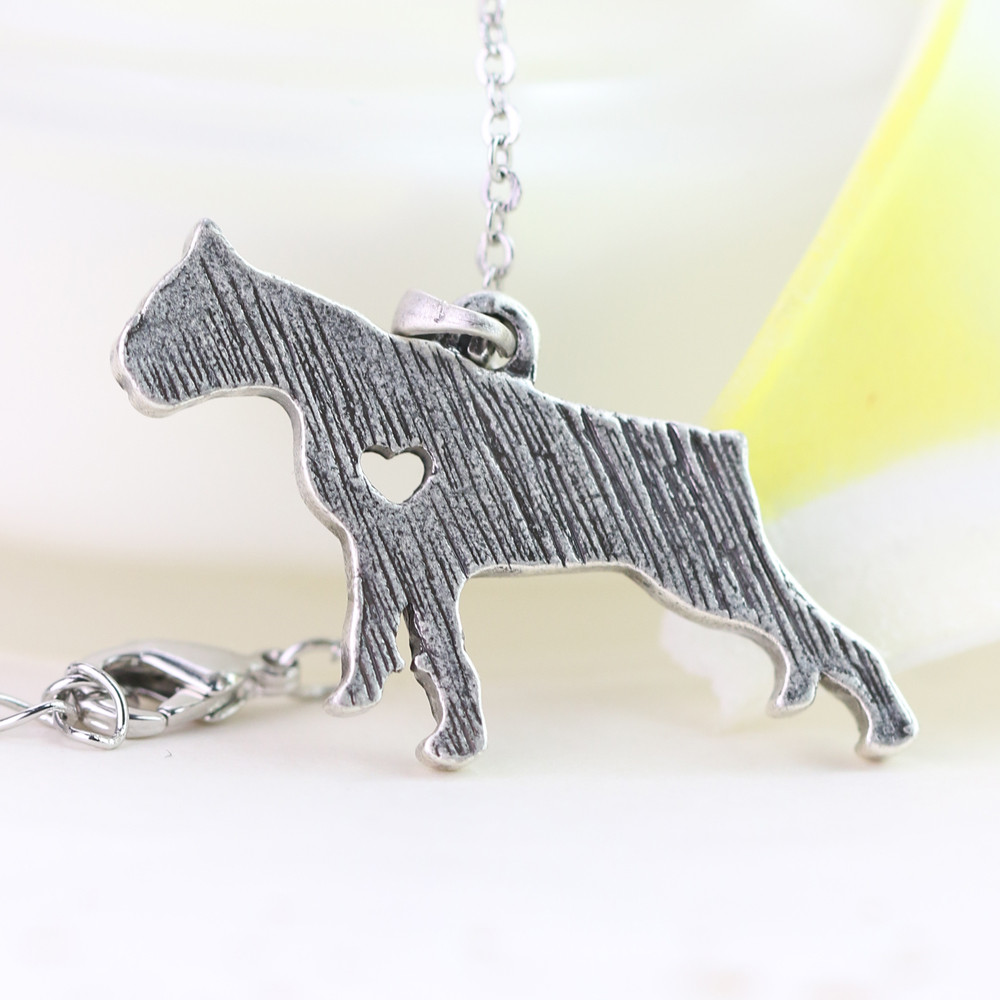 Retro German Boxer Necklace Pet Dog Memorial Jewelry Zinc Metal Necklaces Female Gift For Boxer Lover A31 30*22mm