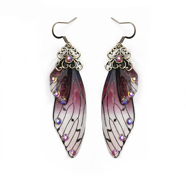 Fashion Handmade Femme Wing Drop Earrings