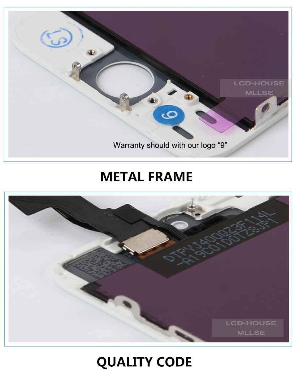 Mllse dla iphone 5 5s 5c moduł wyświetlacza lcd dotykowy ekran digitizer szklarz klon telefonu ekran lcd Klasy AAA jakość 6