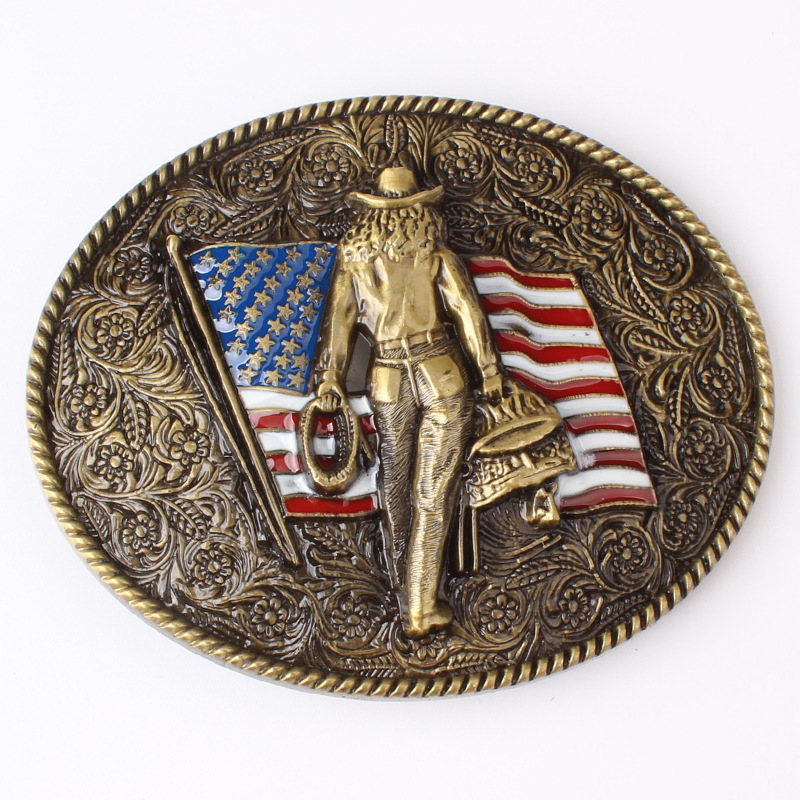 American Flag Belt Buckle Tcowboy Belt Accessories Suitable For The Belt Width Is 3.8 CM
