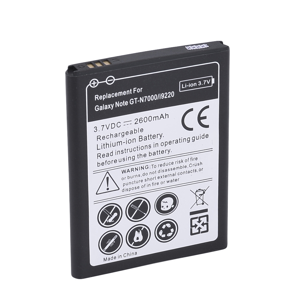 GTF High Quality 2600mah Phone Replacement Bateria For Samsung Galaxy Note i9220 Phone Battery GT-N7000 N7000 Rechargeable Batte
