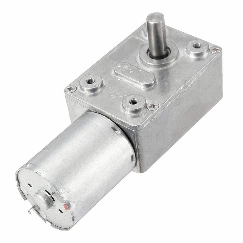 DC 12V 6mm Shaft 5RPM High Torque Turbines Worm Gear Box Reduction Motor dc 12v 6mm shaft 5rpm high torque turbines worm gear box reduction motor