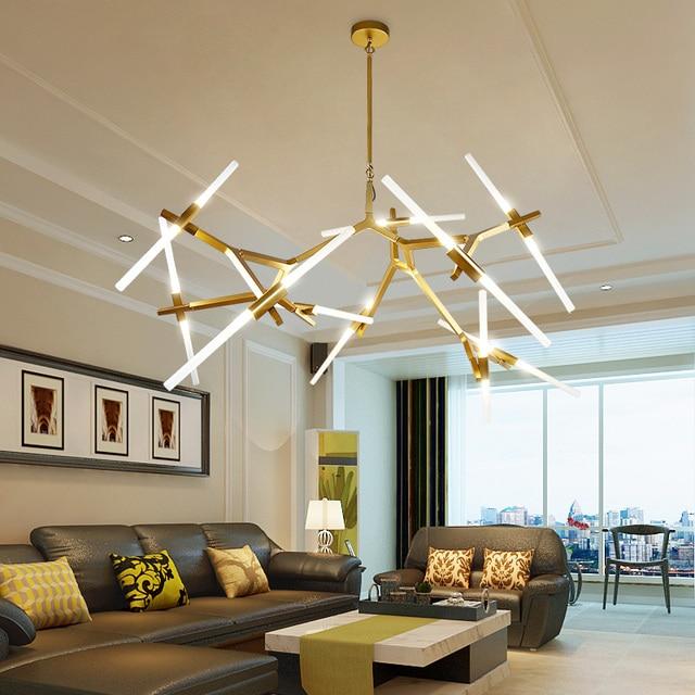 Modern Led Chandelier For Living Room Dining Lampadario Moderno Kronleuchter Lamparas Colgantes