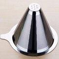 FeiC 1 шт. двухслойный фильтр для капельного кофе из нержавеющей стали многоразовый без Бумажного Фильтра для V60