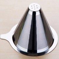 FeiC 1pc Dupla Camada de Aço Inoxidável Reutilizável no filtro de papel de Filtro De Café Do Gotejamento para V60