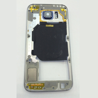For Samsung Galaxy S6 G920 G920F Middle Frame Bezel Dark Blue White Gold Housing Chassis With