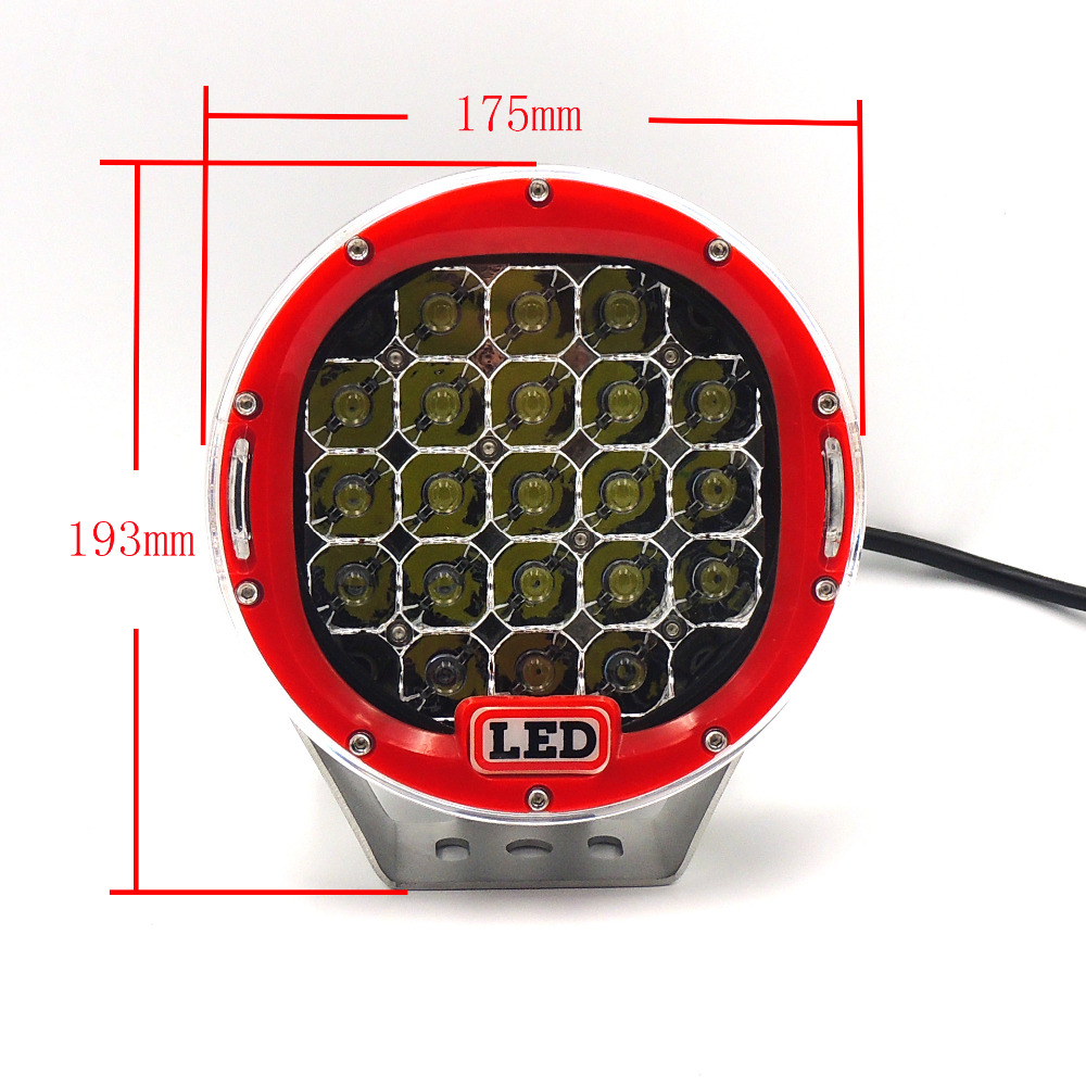 105W Car LED Work Light for Indicators Motorcycle Driving Offroad Boat Car Tractor Truck SUV ATV spot lamp 12V 24V atreus 50w 7 led spot light with remote control searching lights for jeep suv truck hunting boat camp lamp bulb car accessories