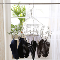 High Quality Durable Stainless Steel Underwear Clothes Socks Laundry Dryer Dry 20 Clip Peg Hanger Hook Rack Bathroom Tools