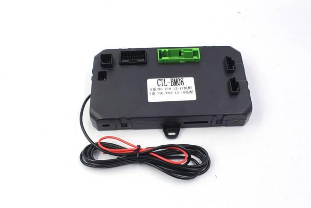 US $400 0  PLUSOBD Car Alarm GPS Tracking Engine Remote Start Stop System  GSM Smartphone App Control For BMW F18 F01 F02 No Wire Cut-in Burglar Alarm