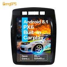 "10,4 ""Vertical pantalla Tesla Android 8,1 control de voz incorporado CARPLAY Radio del coche para Volkswagen/VW Touareg 2010 + navegación GPS"