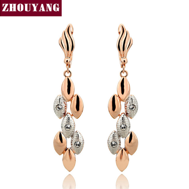 Top Quality ZYE095 Earrings Rose Gold Color Fashion Jewelry Made with Austrian Crystal Wholesale
