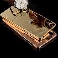 Роскошный Металлический Алюминий Зеркальная Поверхность Чехол Для Sony Xperia M5 Назад крышка Бренд Ультра Тонкий Аргументы За Мобильного Телефона Sony Xperia M5
