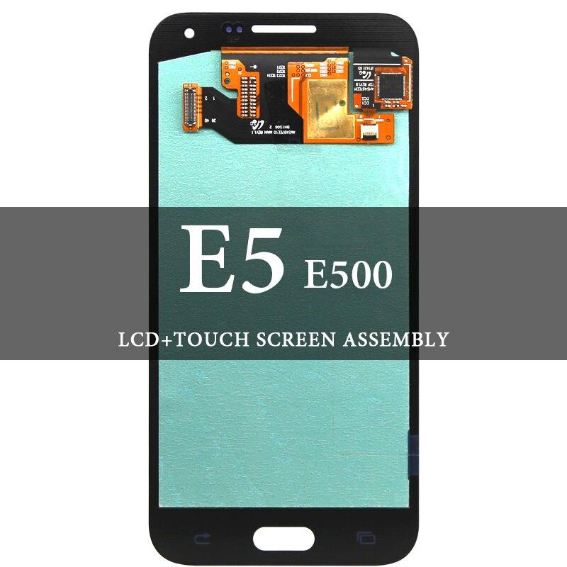 5.0 ''pour Samsung Galaxy E5 E500 LCD bleu blanc or numériseur assemblée écran d'affichage AMOLED remplacement écran tactile
