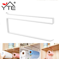 1 Pc Paper Towel Holder White Iron Practical Kitchen Toilet Paper Towel Rack Roll Holder Cabinet