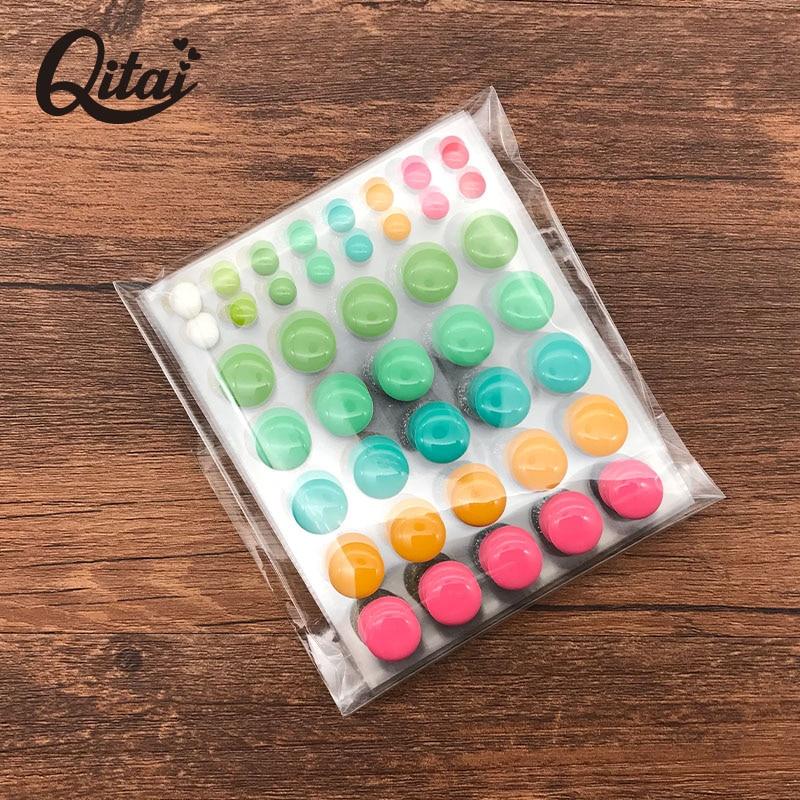 QITAI 6 pcs / lot Scrapbooking Stiker Putaran Dot Lingkaran Cincin - Seni, kerajinan dan menjahit