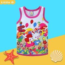 Детская летняя блузка; модные топы для девочек и мальчиков; рубашки с круглым вырезом; детское нижнее белье; одежда из чистого хлопка; г.; маленький костюм Q
