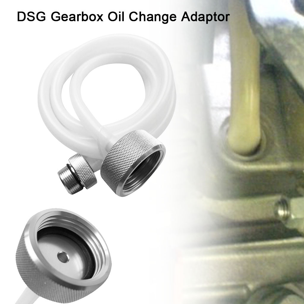 NEW DSG Gearbox Oil Change Adaptor, Oil Filling Hose Transmission Service Oil Filling Fluid Change Adaptor For VW Audi White#10