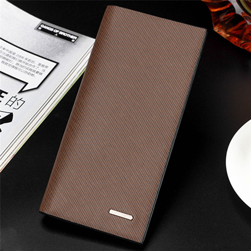 2016 Men Wallets Fashion Card Holder Purse Luxury Leather Vintage Men s Long Wallet Clutch Handbags