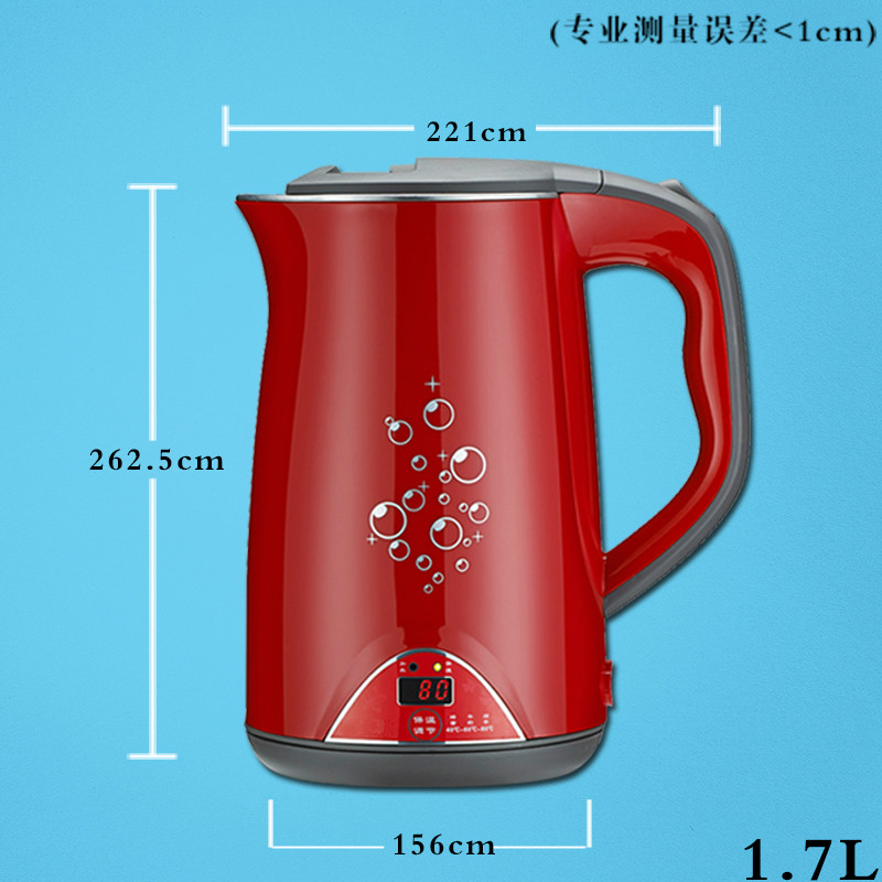 Stainless steel electric kettle double insulation automatic power Safety Auto-Off Function cukyi double layer multi function electric egg cooker boiler stainless steel automatic power off mini