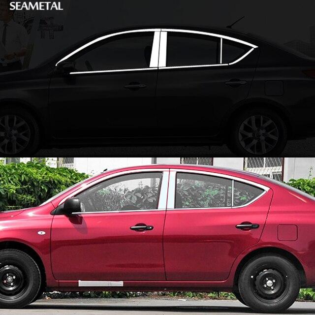 Para Nissan Versa Sedan 2012 2013 2014 2015 2016 2017 Moldura Da Janela Do  Carro Guarnição