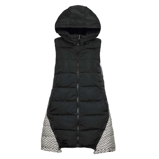 Women's Pattern Printed A-line Down Outerwear Vest