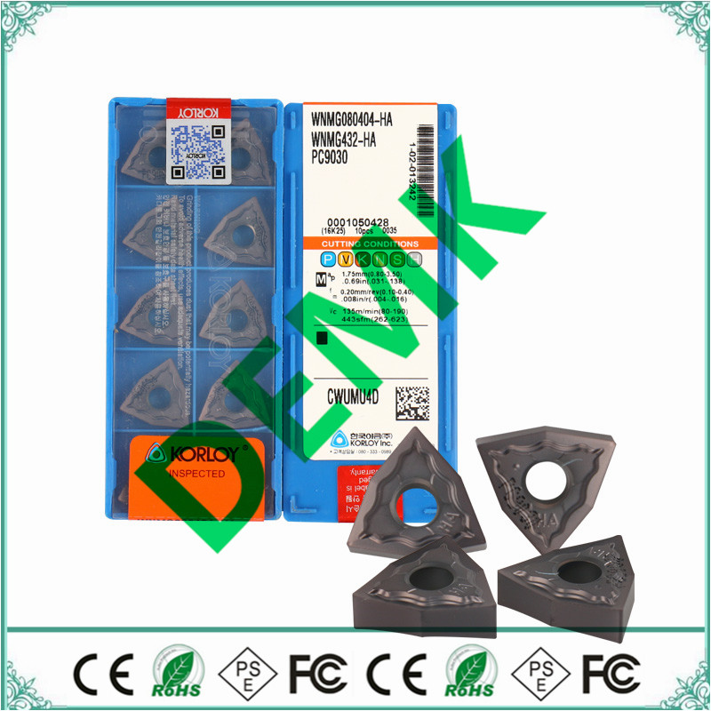 WNMG080404 WNMG080408 HA PC9030 KORLOY CNC carbide milling inserts indexable end milling cutter DWLNR2020K08 MWLNR