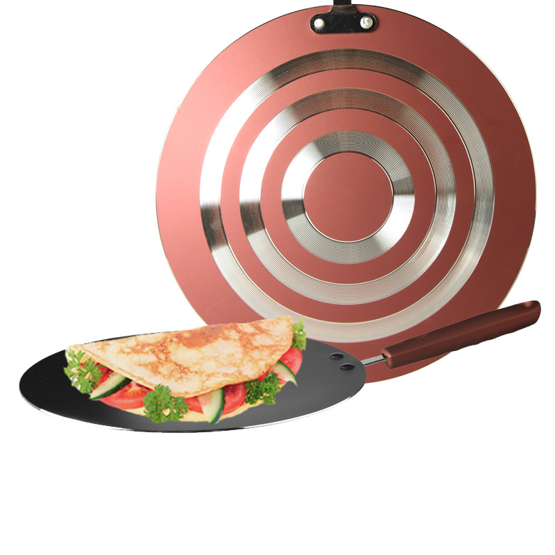 Stainless Steel Round Pav Bhaji Tawa 30CM Home Non stick Pan Fried Egg Spring rolls Pancake Crepe Griddle Pan Commercial