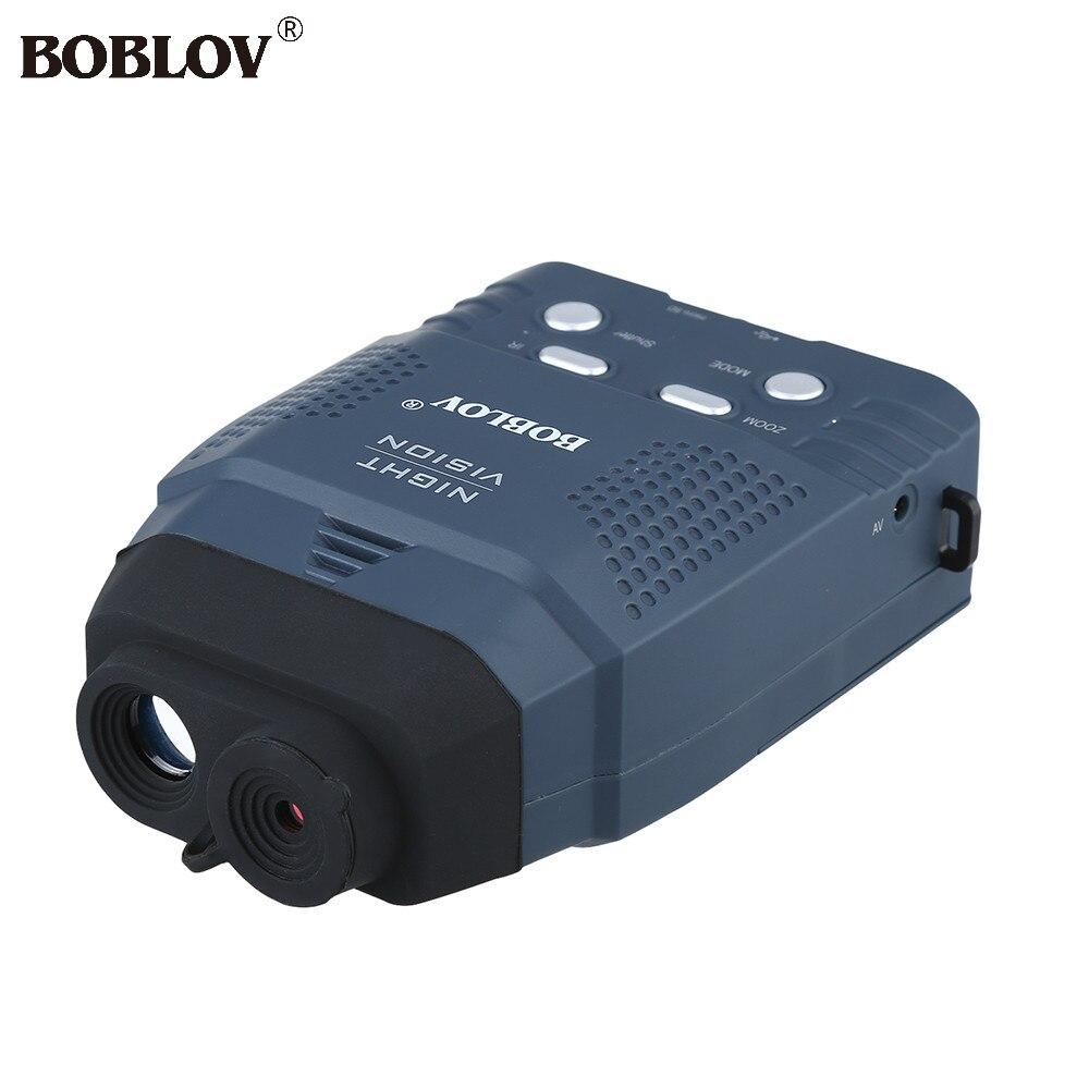 BOBLOV цифровой NV100 Ночное видение устройства Сфера Монокуляр ИК телескоп видео DVR ЖК дисплей Экран + 4 ГБ TF карты 2x дикой природы Ночная охота