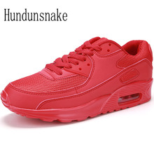 Hundunsnake Red Sneakers Women's Leather Running Shoes For Men 2017 Krasovki Ladies Shoes Sports Female Cushioning Gumshoes T205
