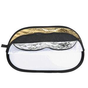 Image 5 - Godox tablero de fondo 5 en 1, 100x150CM, Reflector rectangular redondo, disco difusor de iluminación plegable, negro, plata, oro, blanco