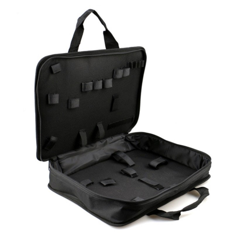 600D Portable Thickening Tool Bag Multi-Divided Electrician Tool Storage Bag Hardware Instrument Case