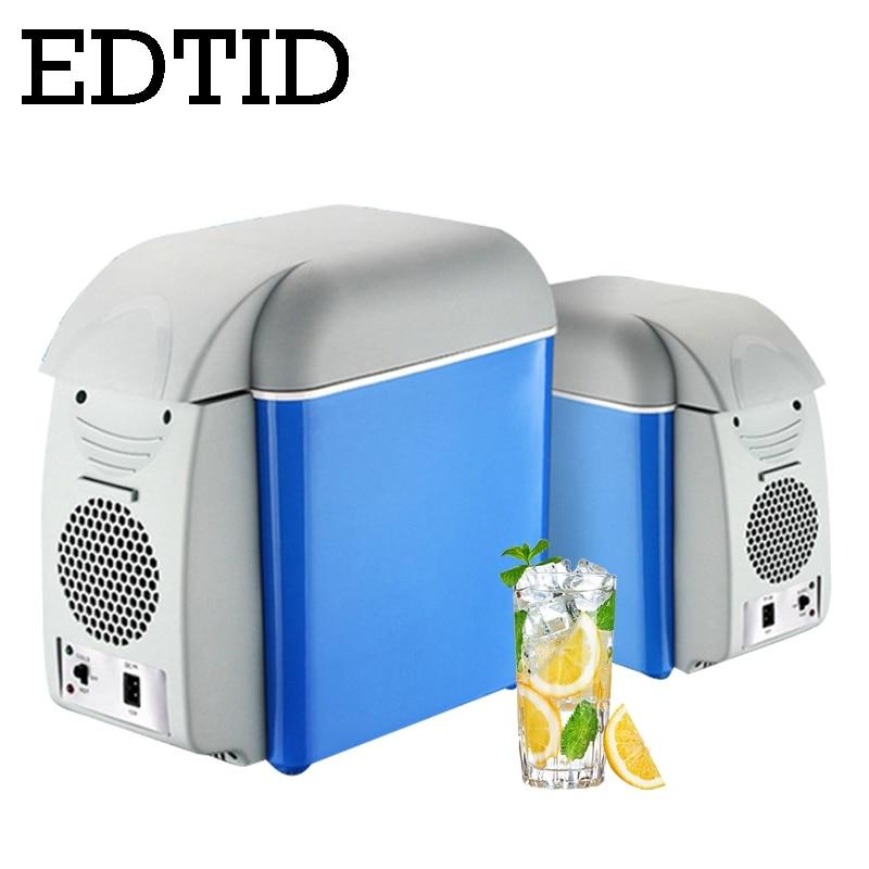 EDTID Mini Refrigerator Vehicle Home Refrigerator Truck 7.5L Icebox Freezer Cooler Warmer Auto Fridge 12V 24V 220V