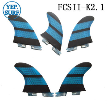 FCS2 K2.1 FINS  tri-quad set Surf FCS2 Fins Surfing Quilhas Blue Honeycomb Fins free shipping surfboard fins high quality honeycomb future fins in surfing quilhas fins