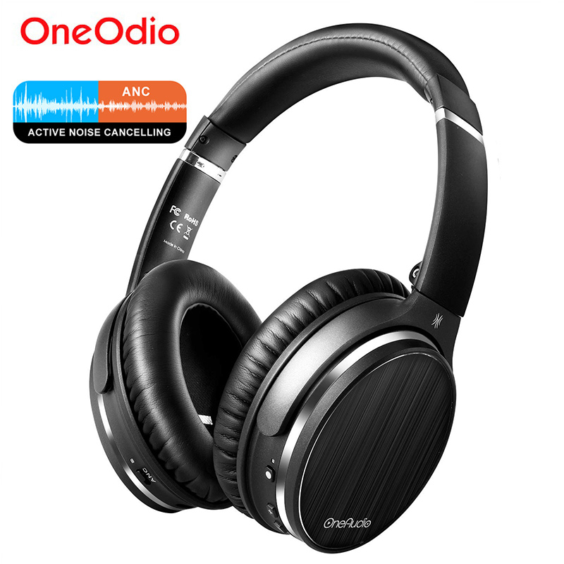 Oneodio Active Noise Cancelling Wireless Bluetooth Headphone With Microphone Foldable Bluetooth 4.1 ANC Headset For Phone Travel