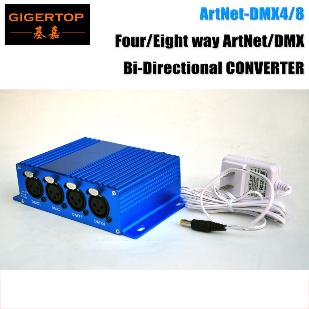TIPTOP TP-D16 ArtNet-DMX4/8 Stage Light ArtNet/DMX Bi-Directional CONVERTER New Design 4 Female DMX Connector ARM Processor