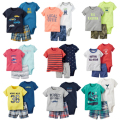 newborn baby kids summer short clothing boys girls clothing set 3pcs drop shipping 2017 bebes baby girl boy clothes