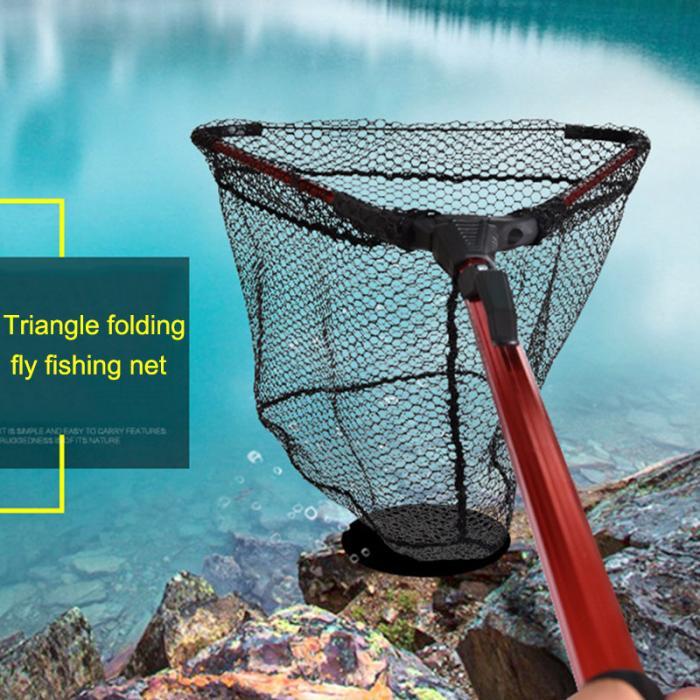 Rede de pouso pesca liga alumínio telescópica