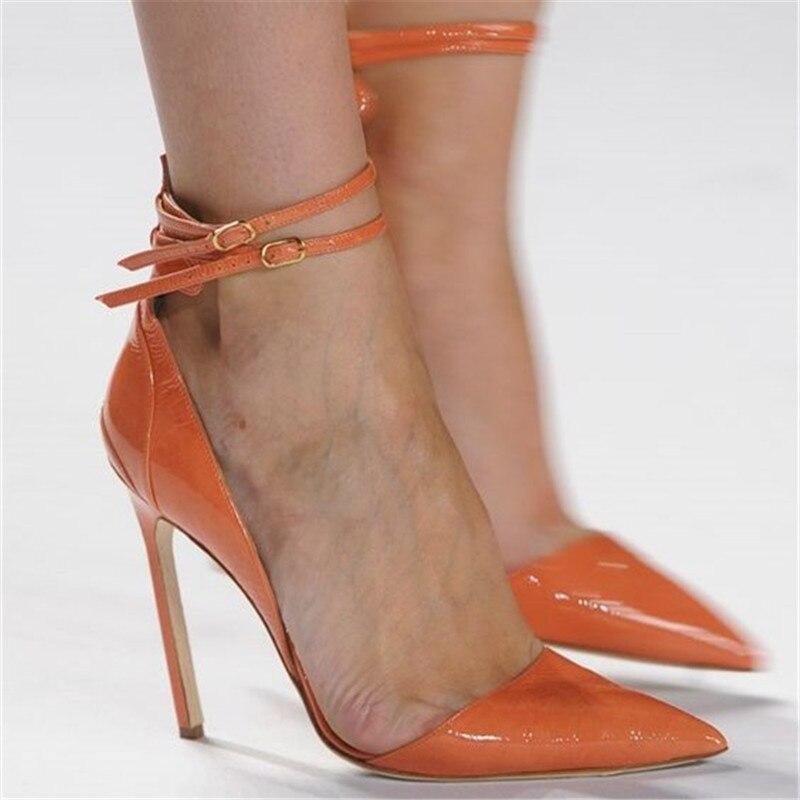 Nouveau Printemps Piste Boucle Haute Talons Mary Jane Pompes Dames Chaussures De Mode Stiletto Talons Bout Pointu Classiques Chaussures Femme 2019