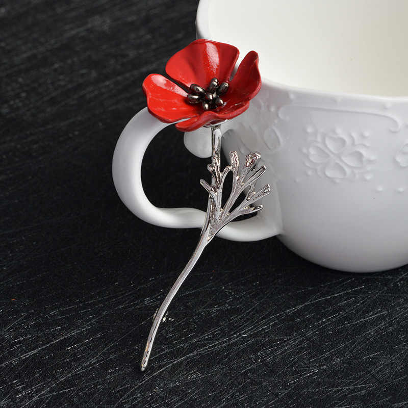 PoPular 3D Flower Brooch Pin Fashion Women Maki Jackets Red Flower Corsage Gift Red Rose Pins Jewelry Gift For friends