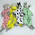 Adorável Crianças Algodão Coelho Gato de Urso Macaco Brinquedo Calma Toalhetes Toalhas de Mão Do Bebê Brinquedo de Pelúcia Bonito Crianças Saliva Toalha 40*45 cm