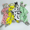 Lovely Infants Cotton Rabbit Cat Bear Monkey Toy Baby Hand Towels Calm Wipes Stuffed Toy Cute Children Saliva Towel 40*45cm