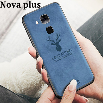 For Huawei Nova plus Case Soft phone case For Huawei Nova plus Protection Cover novaplus Cloth + TPU cases Shell back coque image