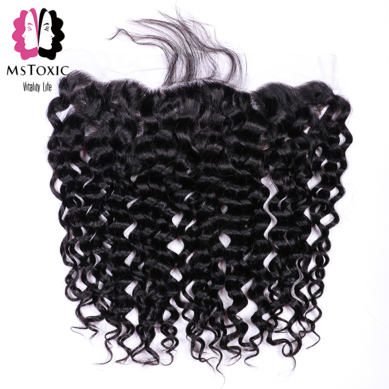 Mstoxic Brazilian Water Wave Frontal Closure 13x4 Ear To Ear Lace Frontal Closure Non Remy Human Hair Frontal Closure